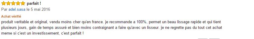 Dafni Hair commentaire clients 2