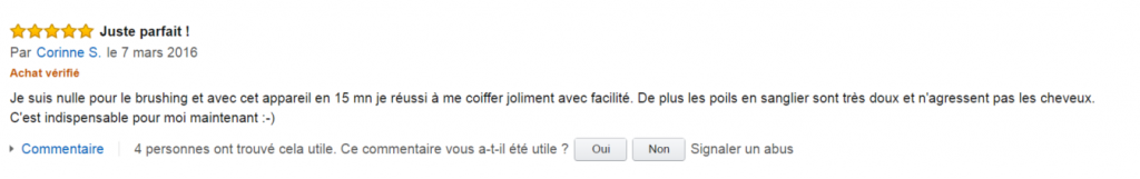 avis amazon babyliss as130e